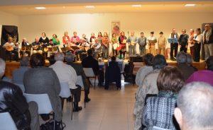"""A Turma """"Artes do Barulho""""no salão paroquial da Igreja Scalabrini. 30-11-2014"""
