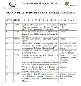 Plano de atividades-fevereiro 2017