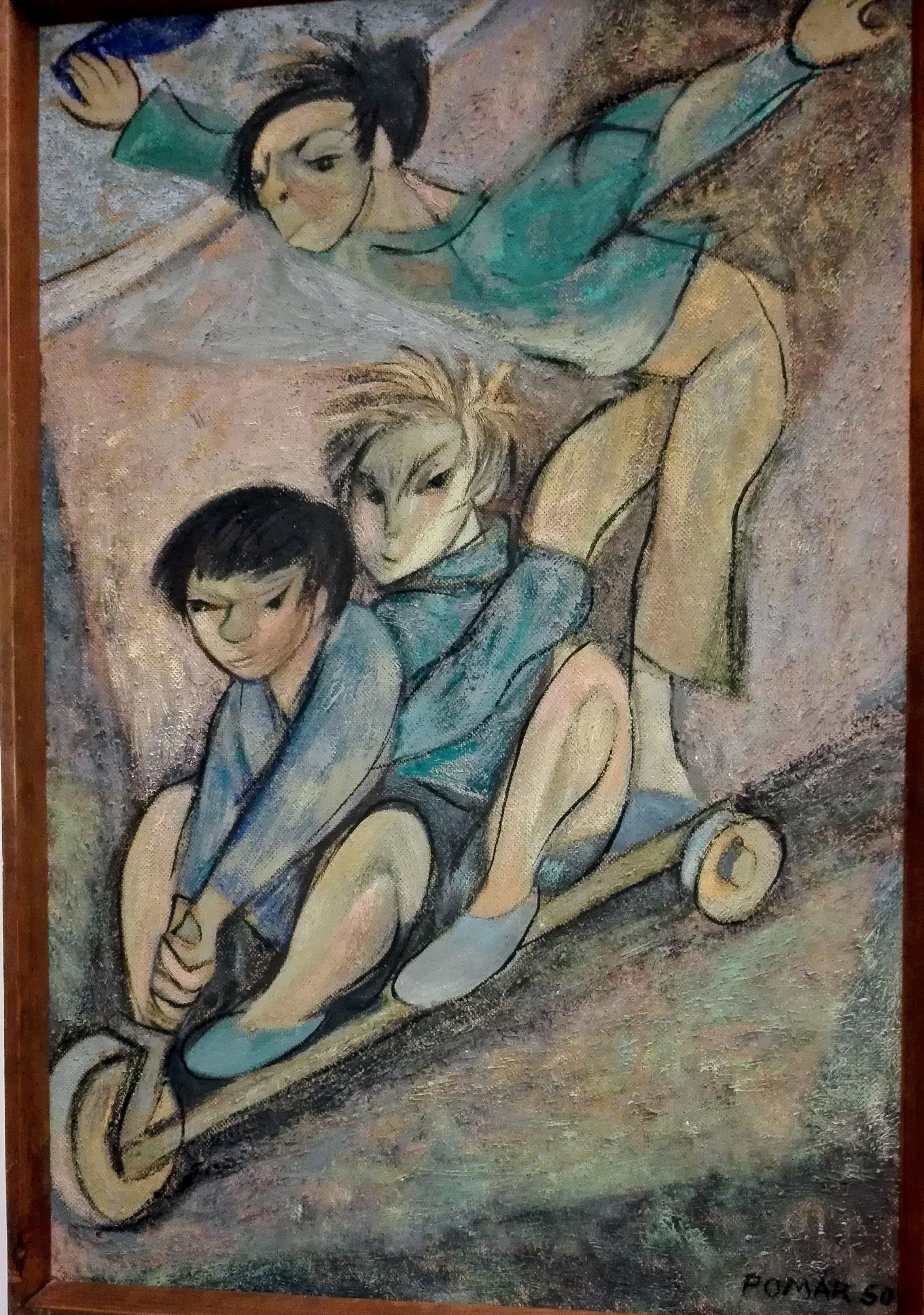 quadro de crianças